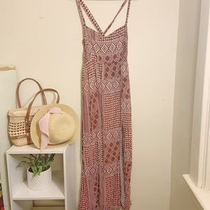 Forever 21 diamond pattern Maxi with side slit